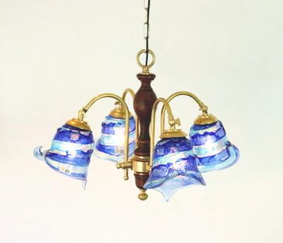 ベネチアングラスシャンデリア  fc-208-calla-sbruffo-blue-lightblue