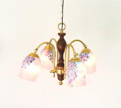 ベネチアングラスシャンデリア  fc-208-goti-p-goto-pink