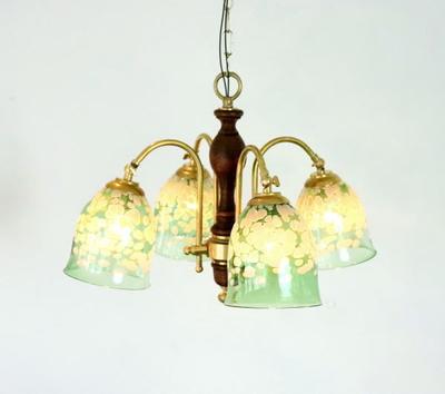AzzurroGlassStudioシャンデリアfc-208-bell-emerald-ivory-no17