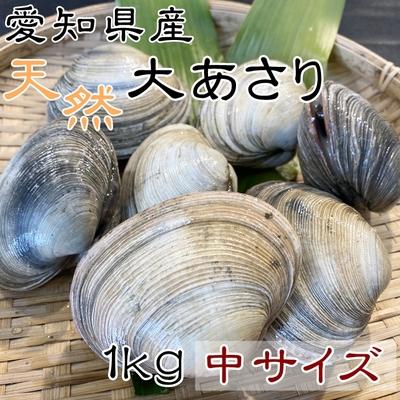 天然大あさり 中サイズ 1kg 【師崎漁港から直送】