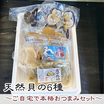 天然貝の6種~ご自宅で本格おつまみセット~