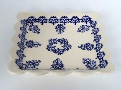 ポーリッシュポタリー 新柄スクエアプレート 小皿16cm 電子レンジ/オーブン/食洗器対応