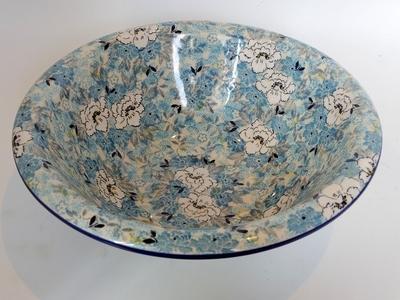 ポーリッシュポタリー 大鉢/大皿/ボウル 電子レンジ/オーブン/食洗器対応