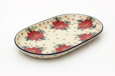 ポーリッシュポタリー 楕円皿/オーバルプレート 電子レンジ/オーブン/食洗器対応/ALEGRE