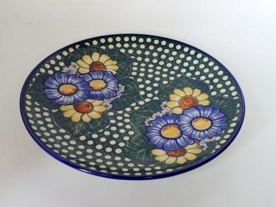 ポーリッシュポタリー 大皿24cm 電子レンジ/オーブン/食洗器対応