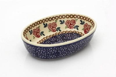 ポーリッシュポタリー 楕円皿/オーバル 電子レンジ/オーブン/食洗器対応