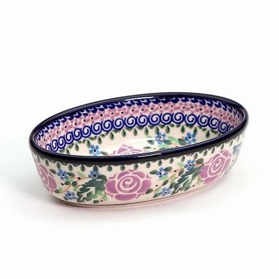 ポーリッシュポタリー オーバルミニ/グラタン皿 電子レンジ/オーブン/食洗器対応