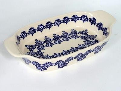 ポーリッシュポタリー オーブン 持ち手ありグラタン皿