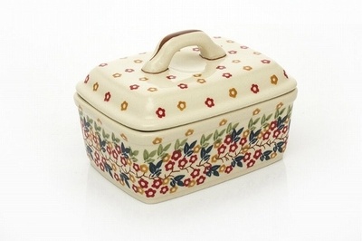 ポーリッシュポタリー 多目的BOX/グラタン皿/バター 電子レンジ/オーブン/食洗器対応
