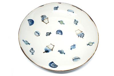 林京子 24cm大皿フルーツ柄 ALEGREオリジナル 和食器