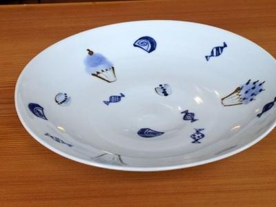 林京子 25cm 大鉢 フルーツ柄 ALEGRE 和食器
