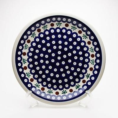 ポーリッシュポタリー  大皿/スープ/パスタ24cm 電子レンジ/オーブン/食洗器対応