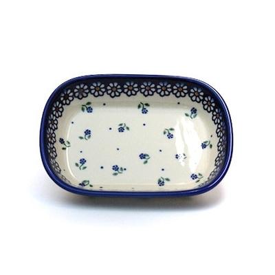 ポーリッシュポタリー 楕円皿/オリーヴ皿 電子レンジ/オーブン/食洗器対応