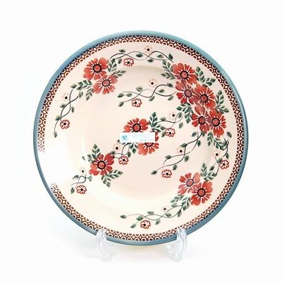 ポーリッシュポタリー スープ/パスタ皿 23cm 電子レンジ/オーブン/食洗器対応