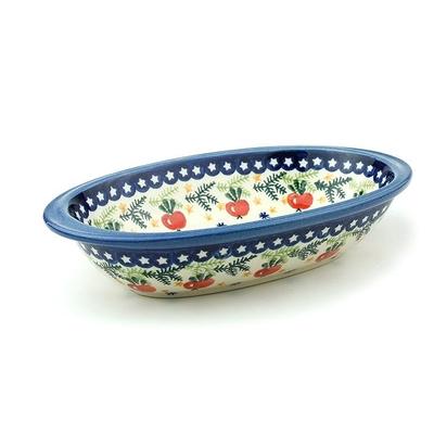 ポーリッシュポタリー 楕円皿/グラタン皿 電子レンジ/オーブン/食洗器対応