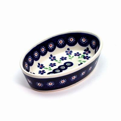 ポーリッシュポタリー グラタン皿/楕円皿 電子レンジ/オーブン/食洗器対応