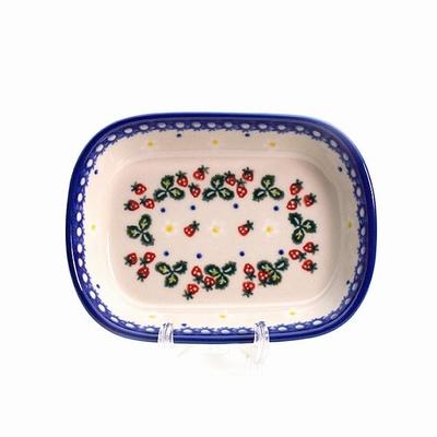 ポーリッシュポタリー オリーブ皿 電子レンジ/オーブン/食洗器対応