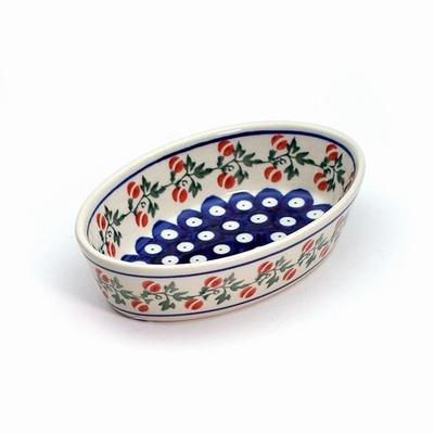 ポーリッシュポタリー グラタン皿 電子レンジ/オーブン/食洗器対応