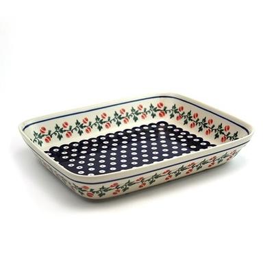 ポーリッシュポタリー オーブン皿/スクエア 電子レンジ/オーブン/食洗器対応