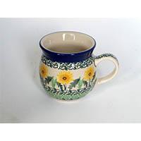 ポーリッシュポタリーマグカップ 200ml/電子レンジ/オーブン/食洗器対応/ALEGRE