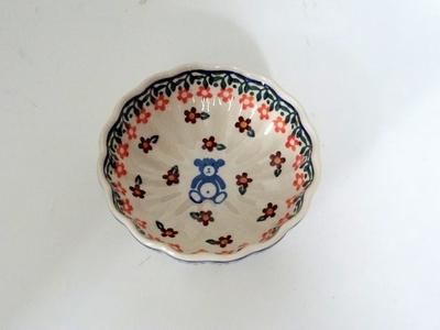 ポーリッシュポタリー くまさん鉢11.5cm 電子レンジ/オーブン/食洗器対応