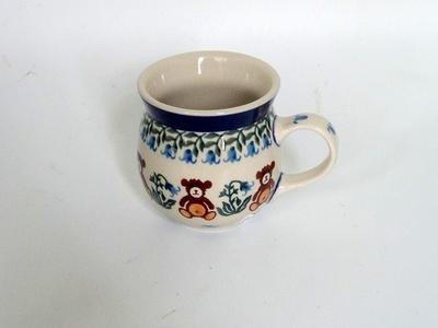 ポーリッシュポタリー くまさんマグカップ200ml/ 電子レンジ/オーブン/食洗器対応