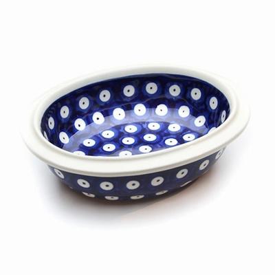 ポーリッシュポタリー 楕円/オリーヴ 電子レンジ/オーブン/食洗器対応