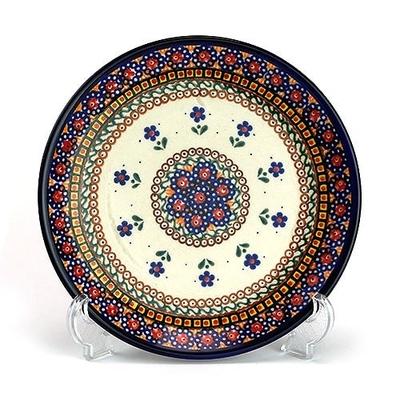 ポーリッシュポタリー 中皿19cm 電子レンジ/オーブン/食洗器対応