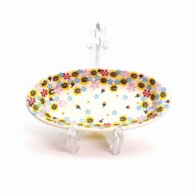 ポーリッシュポタリー 長皿/楕円皿 電子レンジ/オーブン/食洗器対応