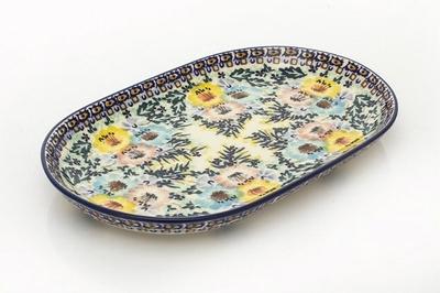 ポーリッシュポタリー 長皿 楕円皿/電子レンジ/オーブン/食洗器対応/ALEGRE