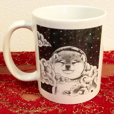 オリジナルマグカップ 宇宙柴犬&丸太柴(宇宙柴ポストカード付き)