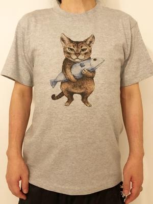 Tシャツ 食いしん坊のゾロ グレー (ネコポストカード付き)