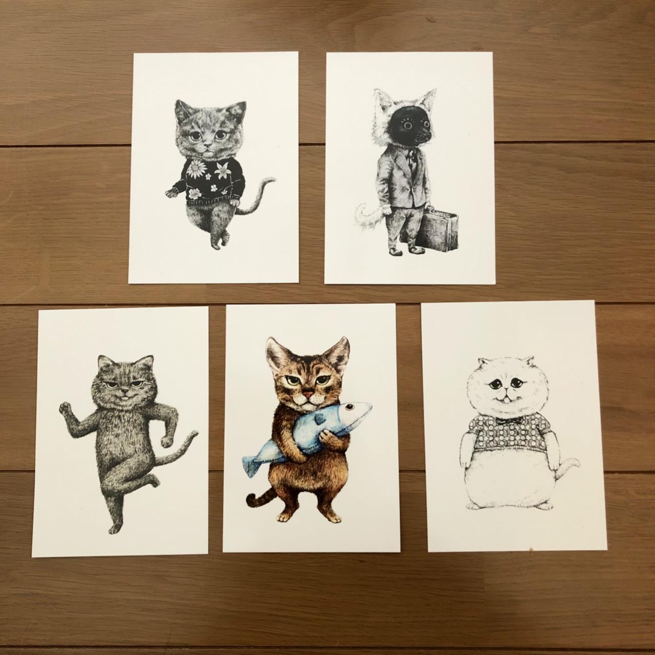 かわいい猫ちゃんのポストカードセットです。会員価格(¥756)