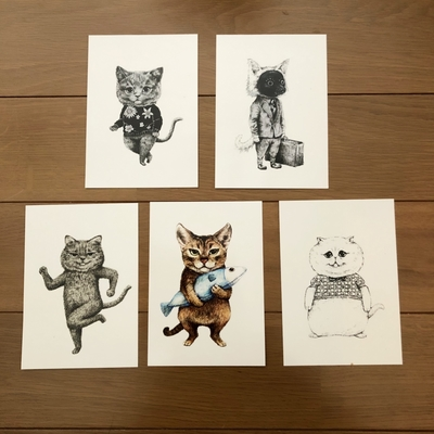 ネコポストカード5種セット