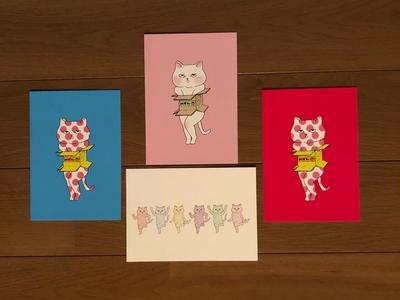 ネコポストカード 4種セット