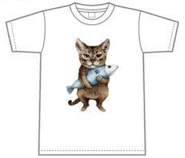 白 グレーがあります。ネコ好きのあなたにぴったりのTシャツです。