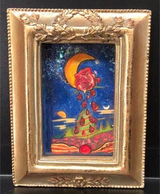 オリジナルカラーリング原画 月と薔薇