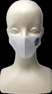 ブルーインパルス ロゴ入り布マスク 白