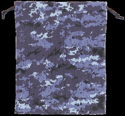 甚平生地製巾着袋(大)海自デジタル迷彩