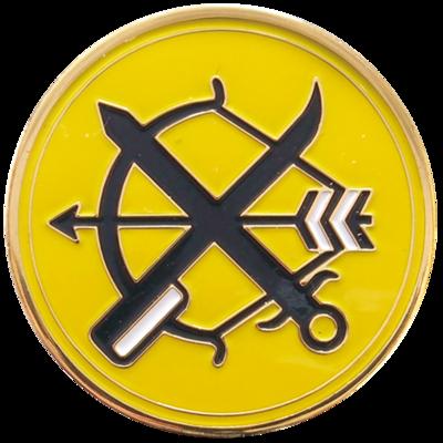 航空自衛隊 部隊ピンズ 第6飛行隊 築城基地(弓と剣)