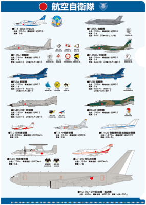 A4クリアファイル 航空自衛隊 装備品イラスト