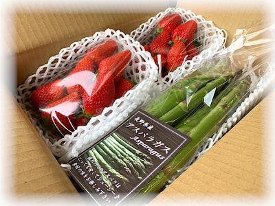 【Spring01】あきひめ苺&グリーンアスパラ