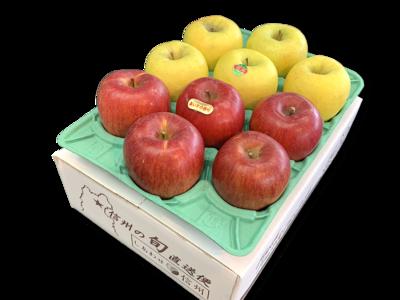 りんご詰め合わせ あいか&名月 特秀品3Kg