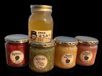 オリジナルジャム4個とアカシア蜂蜜の詰め合わせ