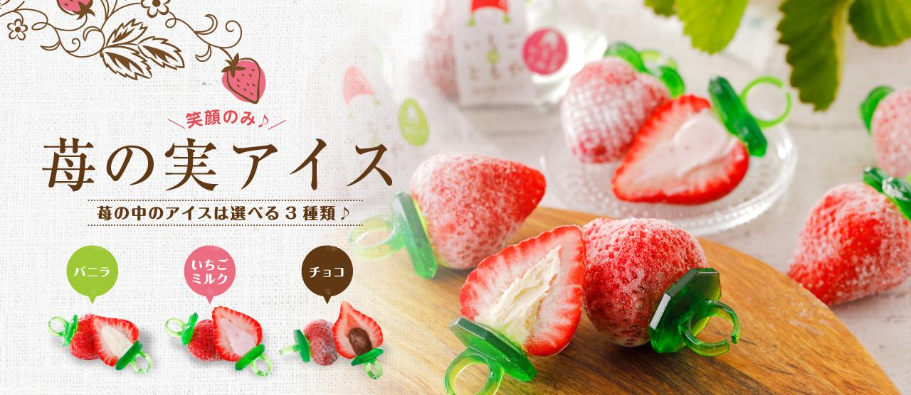 いちごのともや 苺の実アイスって?