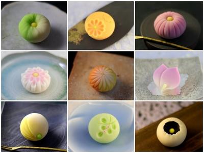 季節の薯蕷練り切り各種