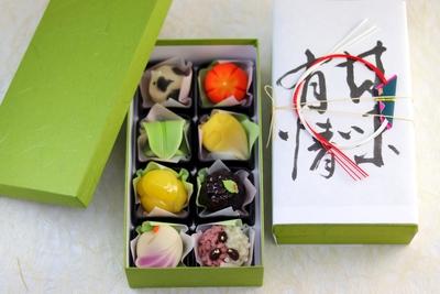 通販限定 迎春上生菓子 化粧箱8個入