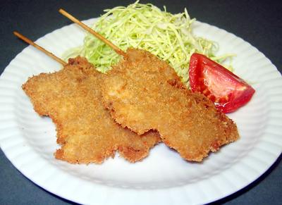 牛肉の串カツ
