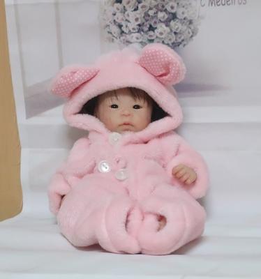 ドール服 ピンク着ぐるみ 25㎝くらいサイズ