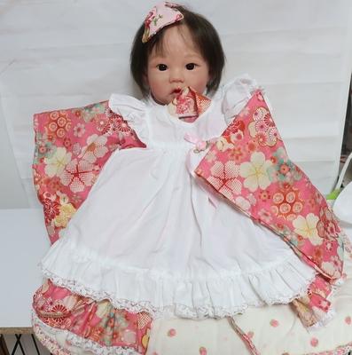 ドール服 着物ドレス ピンク桜柄 20インチサイズ